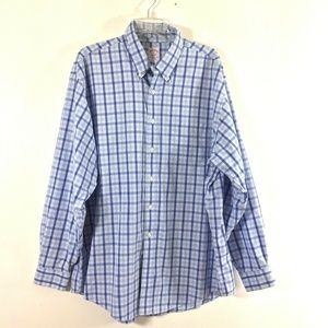 Brooks Brothers Mens XL Shirt Blue Check